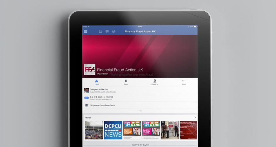 Financial Fraud Action UK digital design