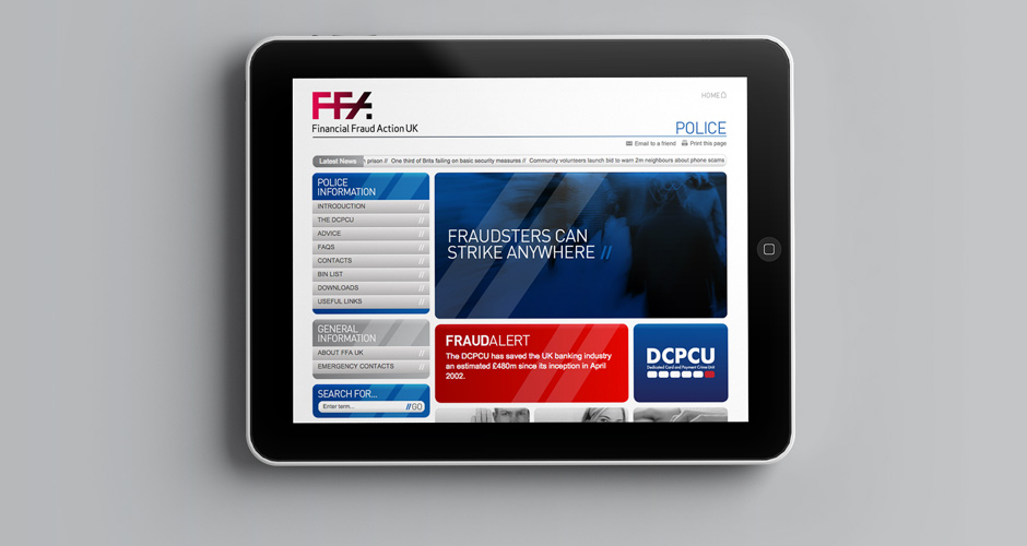Financial Fraud Action UK website