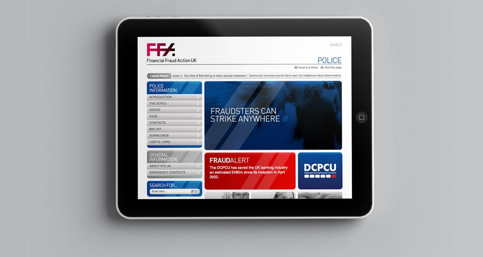 Financial Fraud Action UK website