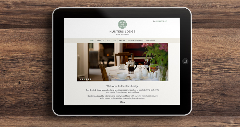 Hunters Lodge website