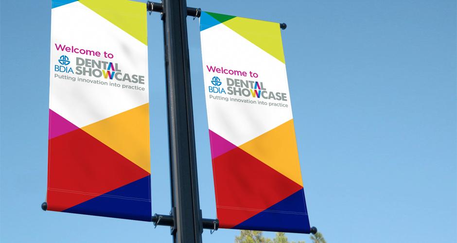 BDIA Dental Showcase banners