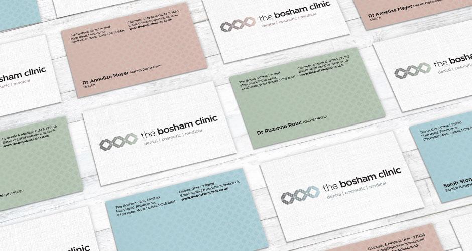 Bosham Clinic business cards