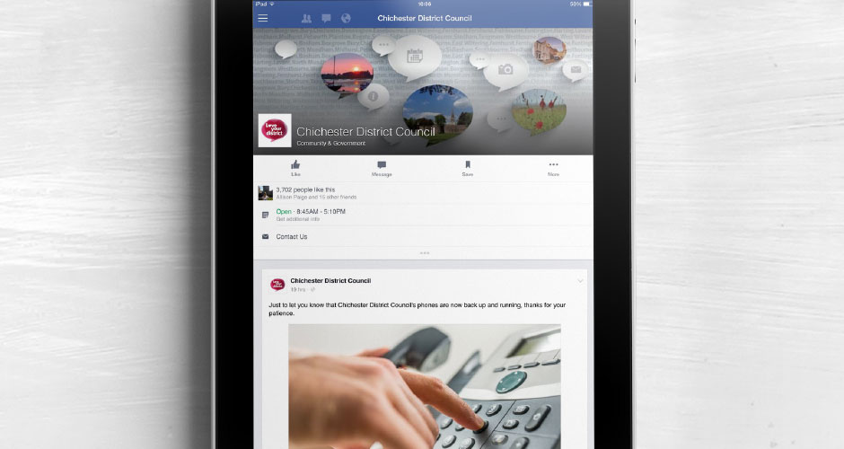 Chichester District Council social media