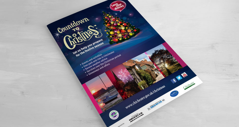 Chichester District Council Countdown to Christmas Campaign