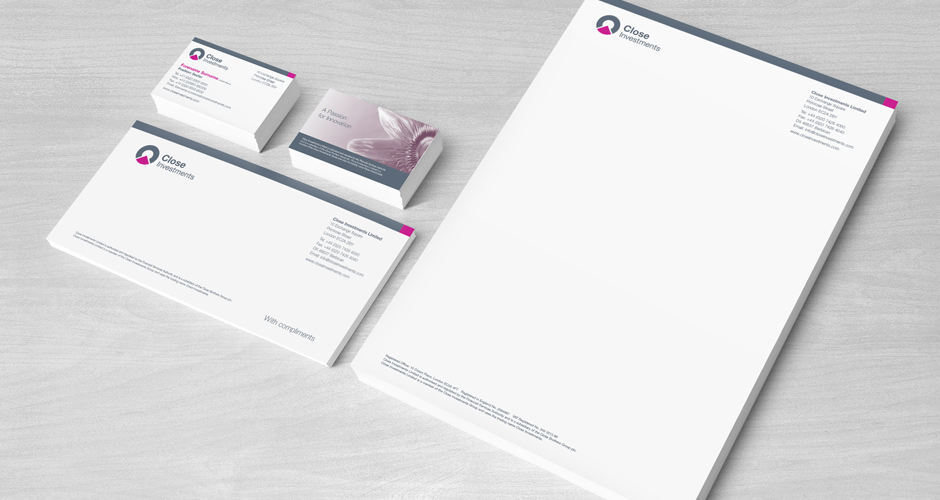 Close Investments Stationery