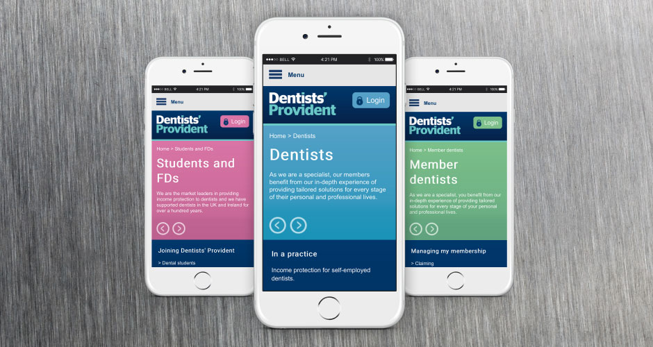 Dentists' Provident website