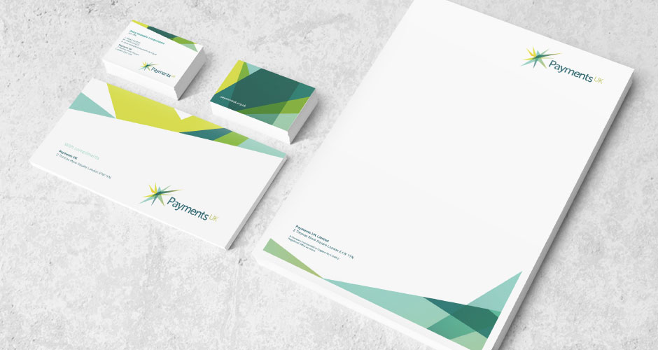 Payments UK stationery