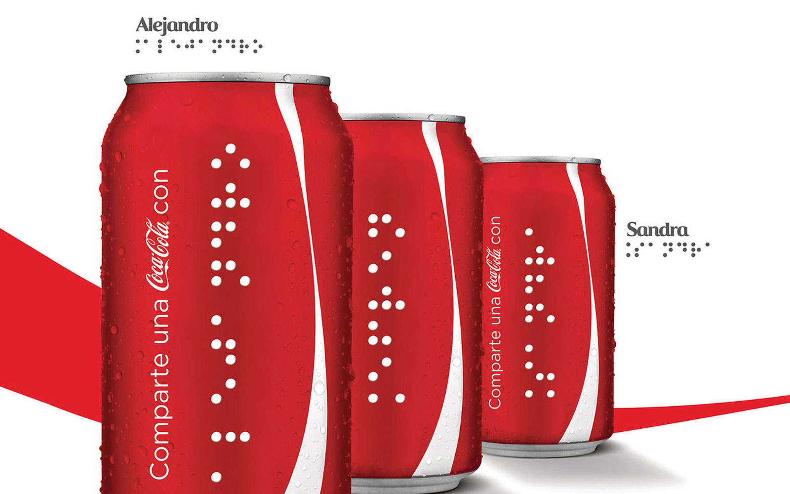 Coca-Cola creates Braille cans for people with visual impairments