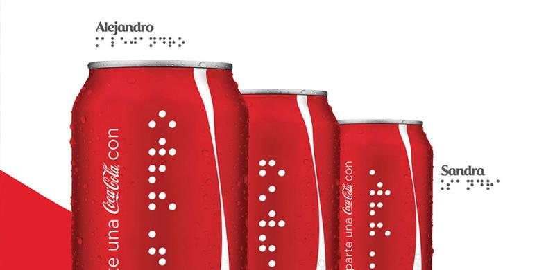 Coca Cola braille