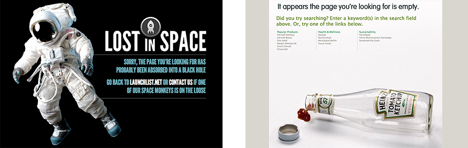 Example 404 error pages
