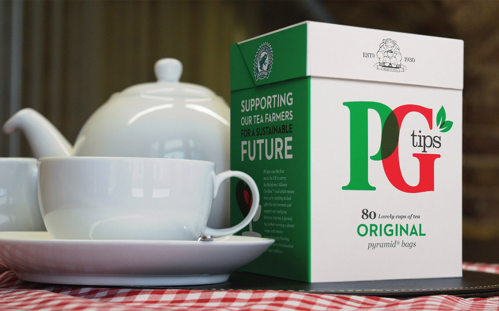 Refreshing rebrand for PG Tips