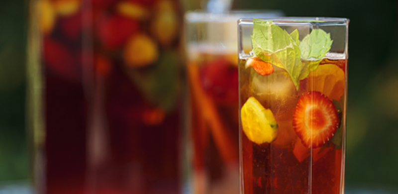 Glass of Pimms