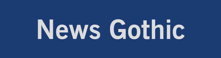 decade of typefaces news gothic