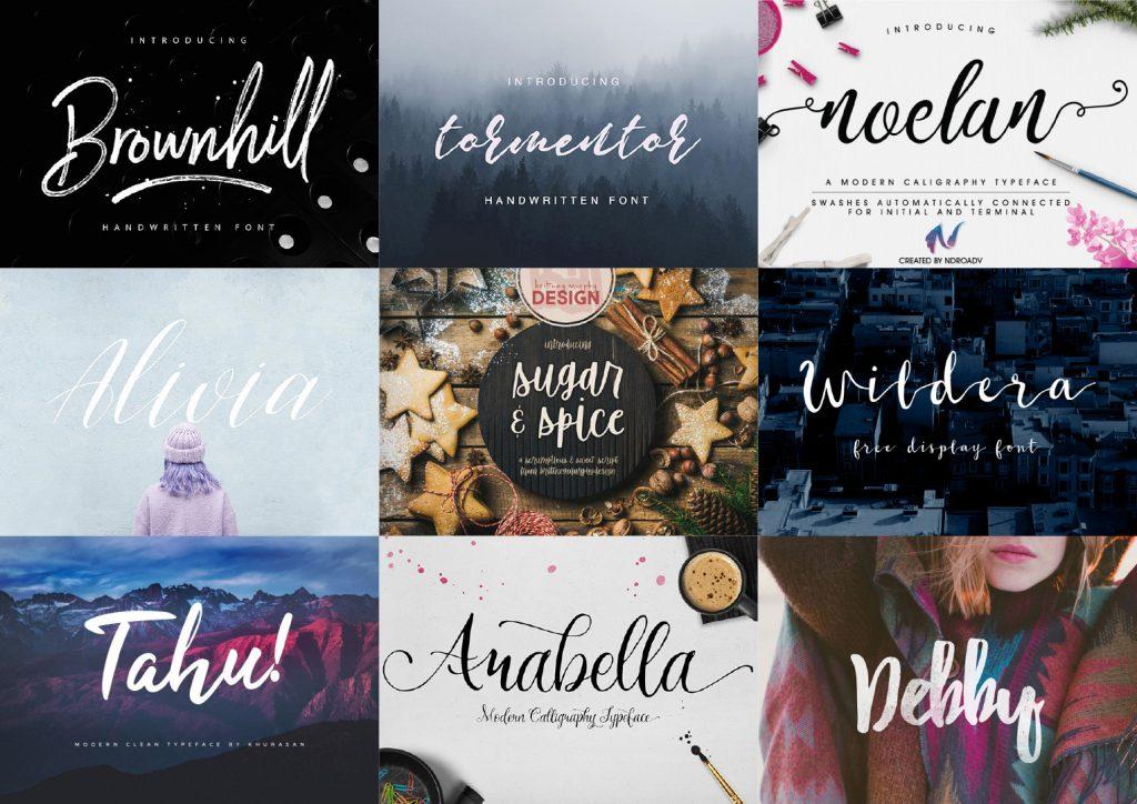 20 best free script fonts