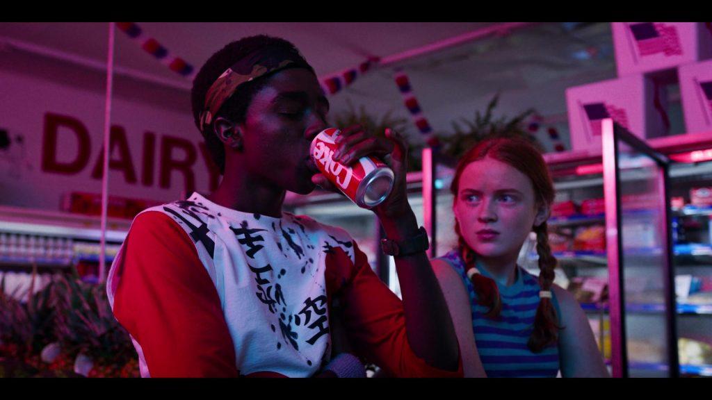 Lucas drinks new coke