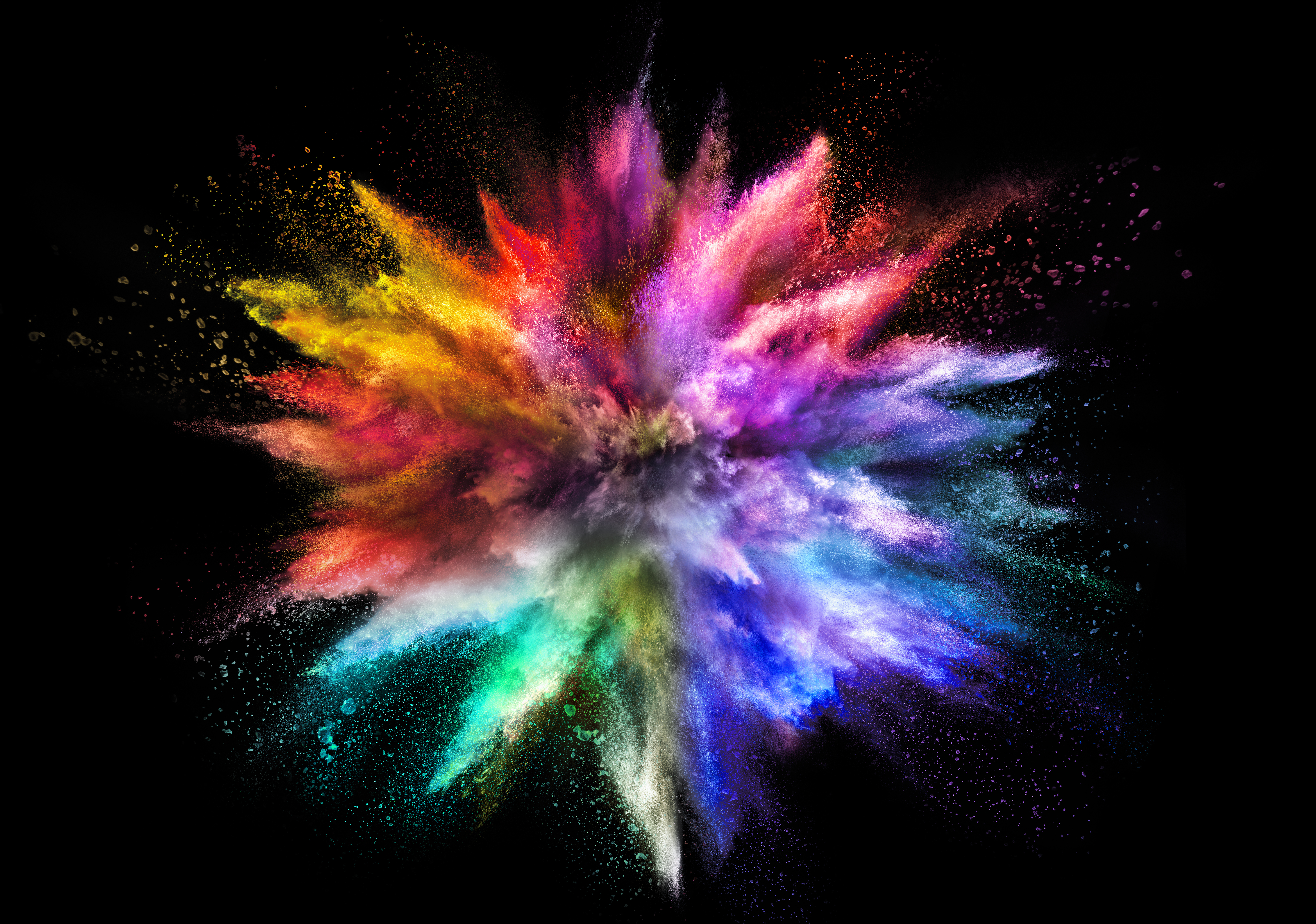 Chalk explosion of bright colours