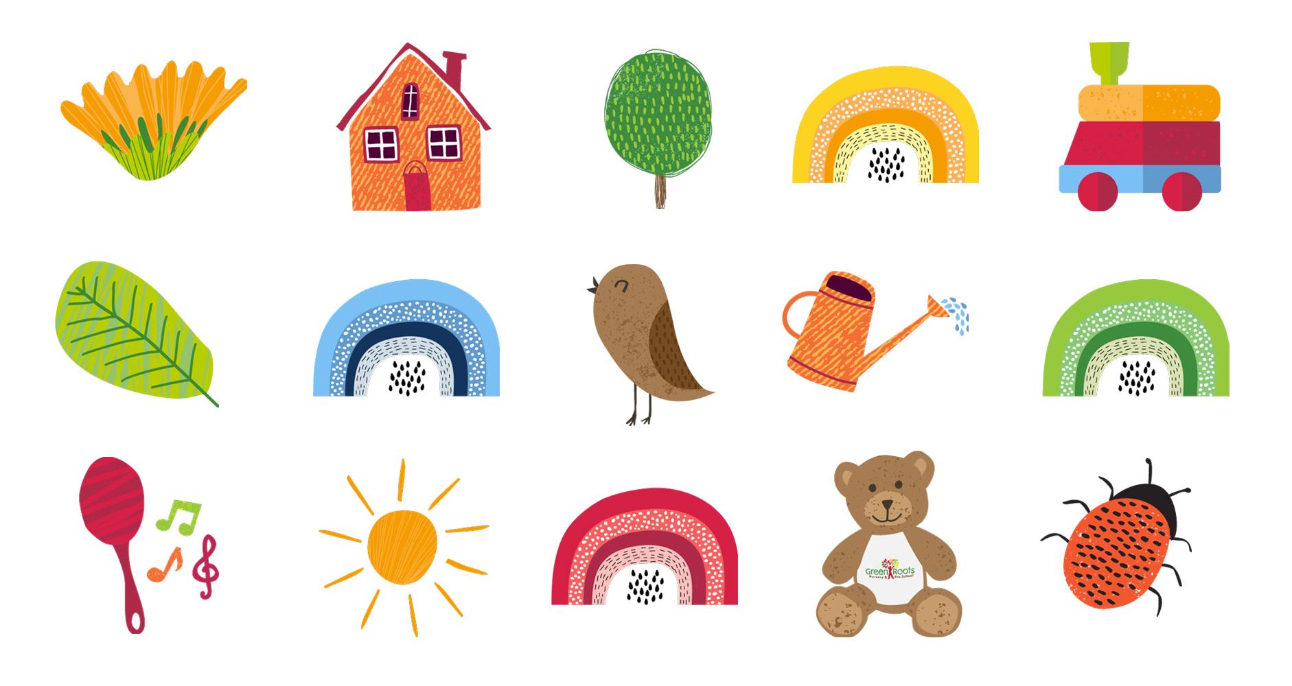 Bespoke illustrative icons