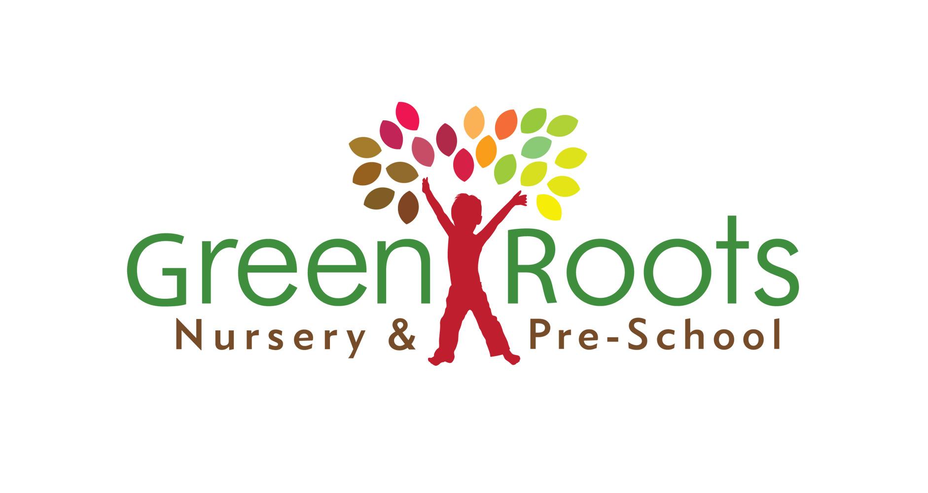Green Roots Nursery & Pre-School refined logo
